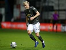 Donny van de Beek jugó en St. Mary's su primer partido de Premier como titular. AFP/Archivo