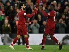En Anfield no hay quien gane al Liverpool. AFP