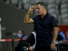 Galtier en veut plus malgré la victoire. AFP