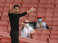 Arteta pone al Brentford en el punto de mira. AFP
