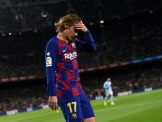 Antoine Griezmann teve mais uma atuação apagada com o Barcelona. AFP