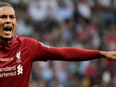 Van Dijk a livré les clés de la 'Redmontada' face au Barça. AFP