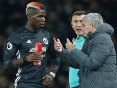 Mourinho-Pogba, una relación turbulenta. AFP