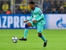 Ansu Fati, pendiente de un trámite para poder jugar con España. AFP