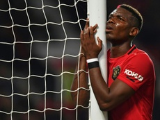 Pogba podría salir del United este verano. AFP