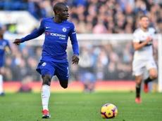Kante pictured against Fulham at Stamford Bridge. AFP