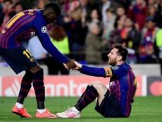 Si el 'Clásico' se aplaza, Dembélé podría jugarlo. AFP