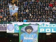 Le Stade San Paolo va être rebaptisé Diego Maradona. afp