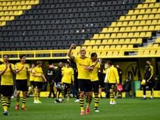 Parceria entre Haaland e Reinier pode render frutos ao Dortmund e ao Real Madrid. AFP