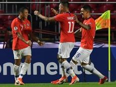 Alexis Sánchez se reencontró con el gol en la Copa América. AFP
