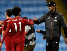 Salah praised Klopp exactly three years after joining Liverpool. AFP/Archivo