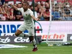 Mbappe scored two goals in PSG's 3-1 victory over Guingamp. AFP