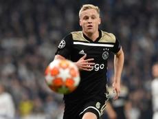 Van de Beek prefiere al Real Madrid. AFP