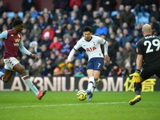 Spurs forward Son sidelined with fractured arm. AFP