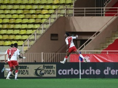 Le premier but d'Aurélien Tchouaméni avec Monaco. afp