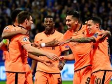 Liverpool won the reverse fixture 7-0. AFP