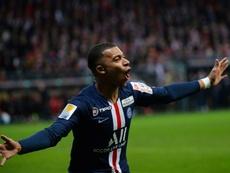 Mbappé falou de craques do PSG. AFP