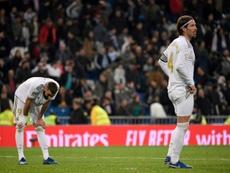 La critique de Ramos à l'égard de l'arbitre pourrait lui coûter cher. AFP