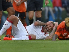 Menez suffered the horrific injury on his debut for Bordeaux. AFP