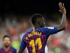 Dembélé ha visto puerta en cinco de sus seis primeros partidos. AFP