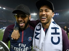 Alves has defended Neymar. AFP