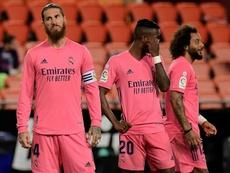Sergio Ramos no jugará contra el Sevilla. AFP