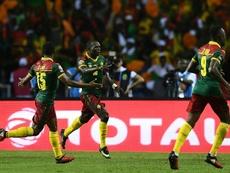 Camarões e Austrália empataram a um. AFP
