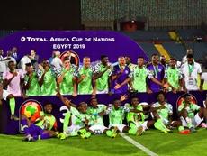 O terceiro lugar na Copa Africana é da Nigéria. AFP