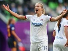 Ada Hegerberg abandera la inclusión en el fútbol moderno. AFP