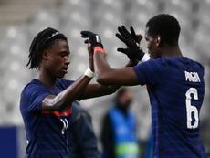 Camavinga, Pogba y el Real Madrid, un cuento eterno. AFP