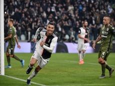 Cristiano rompió un récord en la red social Instagram. AFP