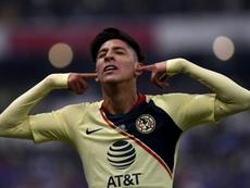 Edson Álvarez, con futuro incierto en el América. AFP