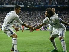 Cristiano y Marcelo, dos buenos amigos. AFP