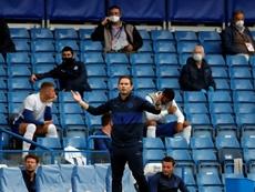 Frank Lampard falou sobre a fase do goleiro Kepa após derrota contra o Liverpool. AFP