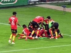 Lens reprend la deuxième place de la Ligue 2. AFP