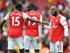 Pépé aún no ha roto en el Arsenal. AFP