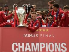 El Liverpool se proclamó la pasada temporada campeón de Europa. AFP