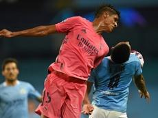 Varane revient sur ses erreurs contre Manchester City. AFP