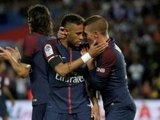 Verratti comenta a ausência de Neymar. AFP