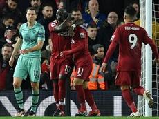 O trio do Liverpool foi o maior desafio da carreira de Pablo Marí. AFP