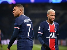 Mbappe and Neymar were not at their best v Angers. AFP