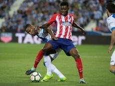 El Atleti 'pinchó' por primera vez en su debut en Copa desde que llegó Simeone. AFP