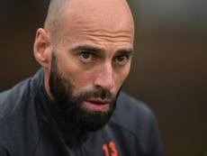 Caballero explicó la jugada contra Croacia. AFP