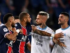 Entre Neymar y Álvaro saltaron chispas. AFP