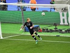 Karius had a nightmare performance against Real Madrid. AFP