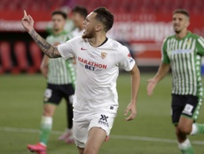 Ocampos está disfrutando de un gran momento goleador en el Sevilla. AFP