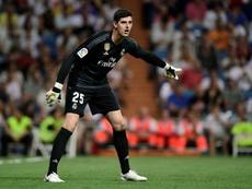 Courtois a encaissé cinq buts face au Barça et cinq autre face à la Suisse. AFP