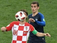 Croatie Luka Modric Antoine Griezmann. AFP