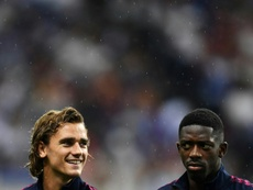 Griezmann não encontra o seu lugar no Barça. AFP