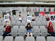O FC Seuol usou bonecas sexuais na partida contra o Gwangju. AFP
